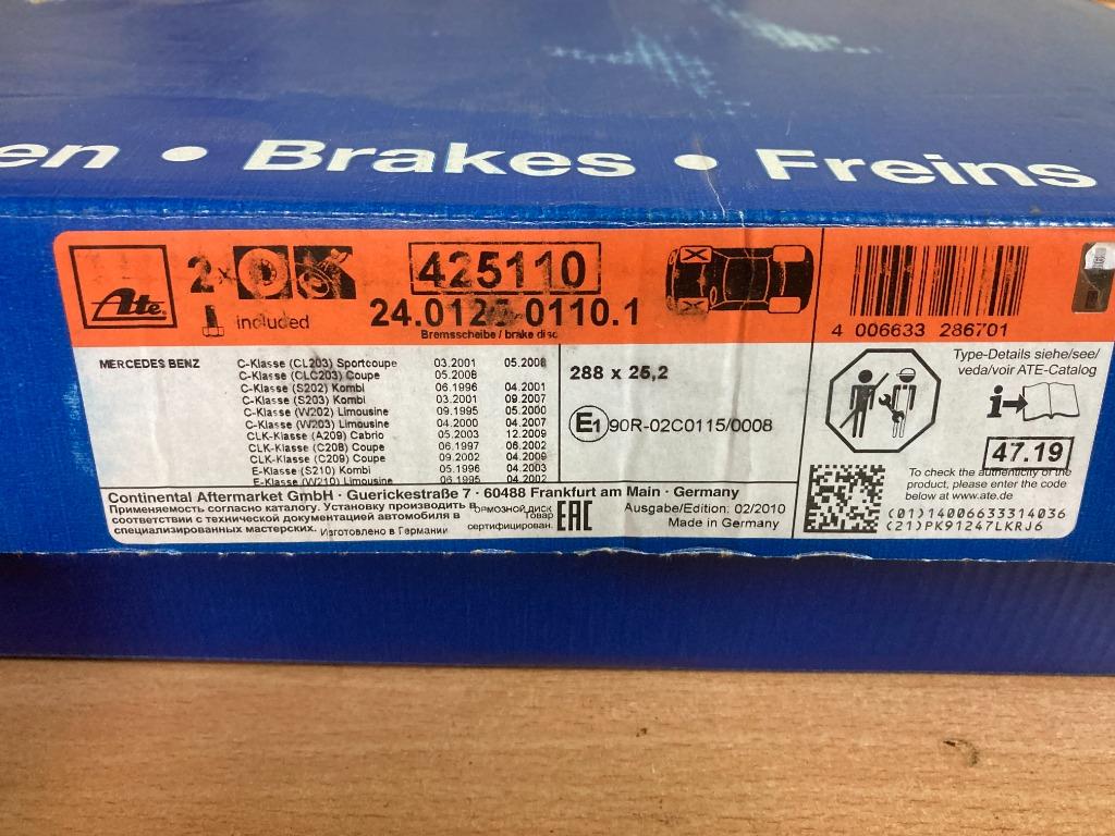 Mercedes C W203 zestaw nowe tarcze klocki czujniki 2