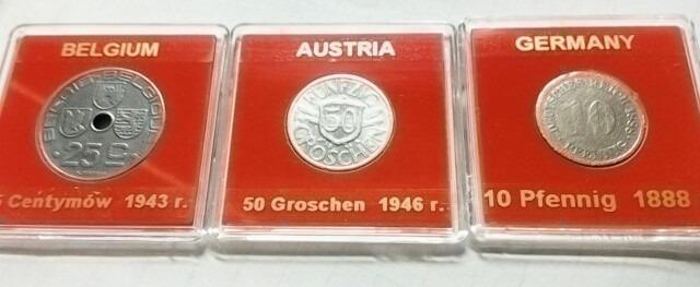 Zestaw monet Austria Belgia Niemcy