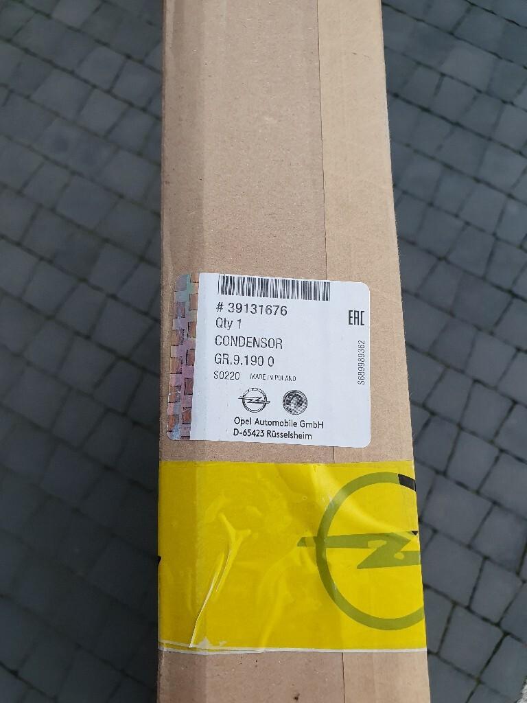 радиатор кондиционирования воздуха opel astra k 16