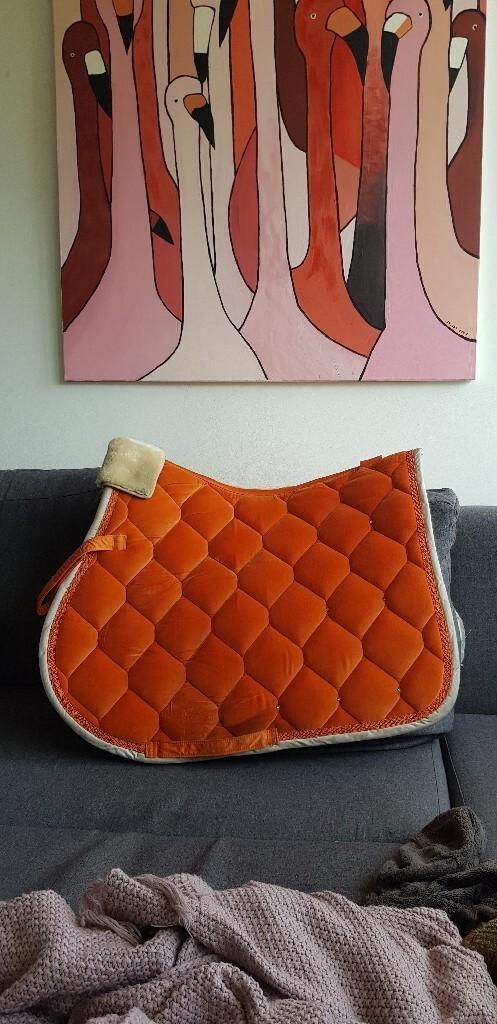 Эскадрилья Платиновая бархатная хрустальная оранжевая шапка