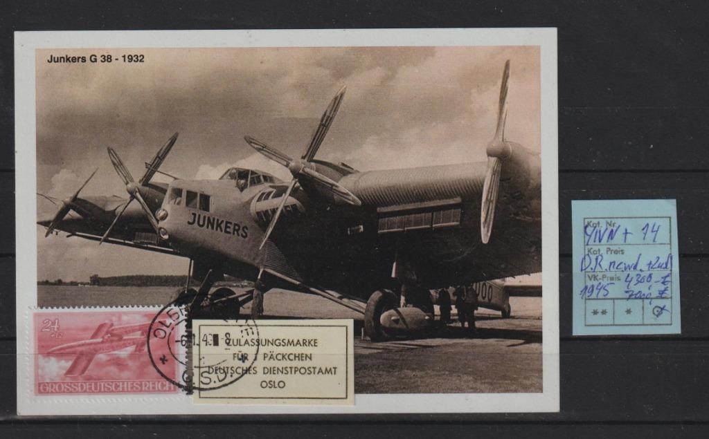 Niemcy D.Reich Feldp. ANK YIVn+Z na Karta spra.BPP
