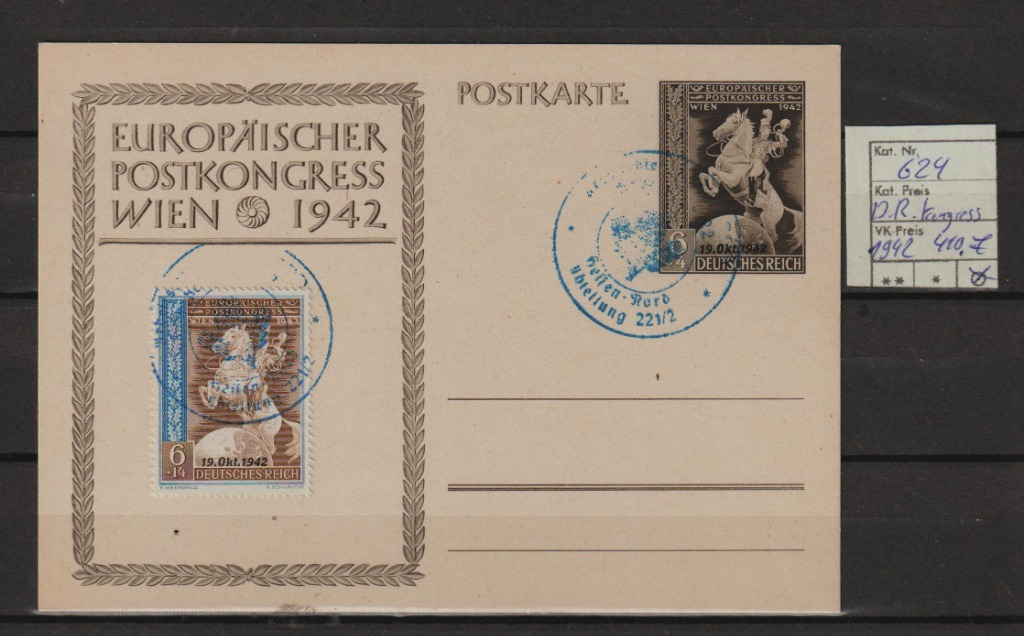 Niemcy D.R.Kongres wiedeński Nr.624 na Karta OVB