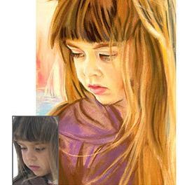 Portret ze zdjęcia, prezent Mikołaj Święta A3