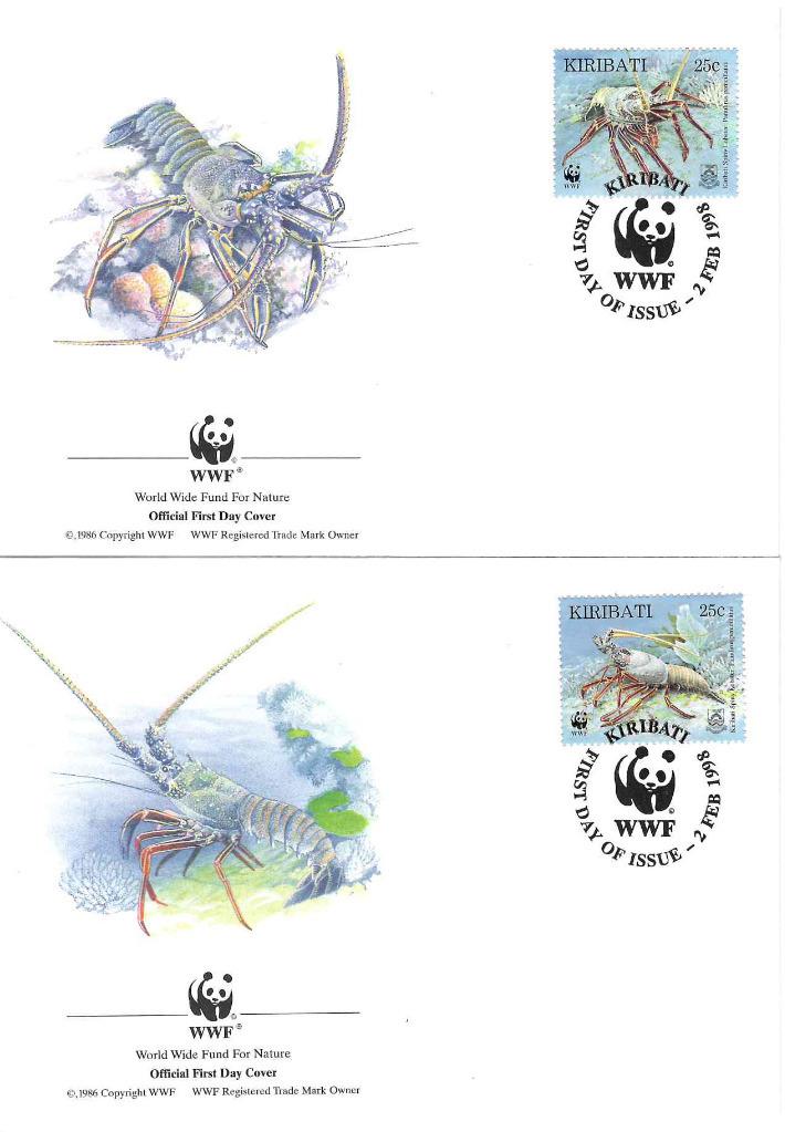 Zestaw 4 kopert WWF Kiribati nr 58