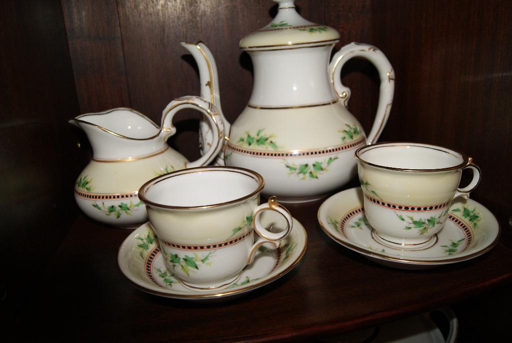 Piekny duży zestaw porcelany KPM