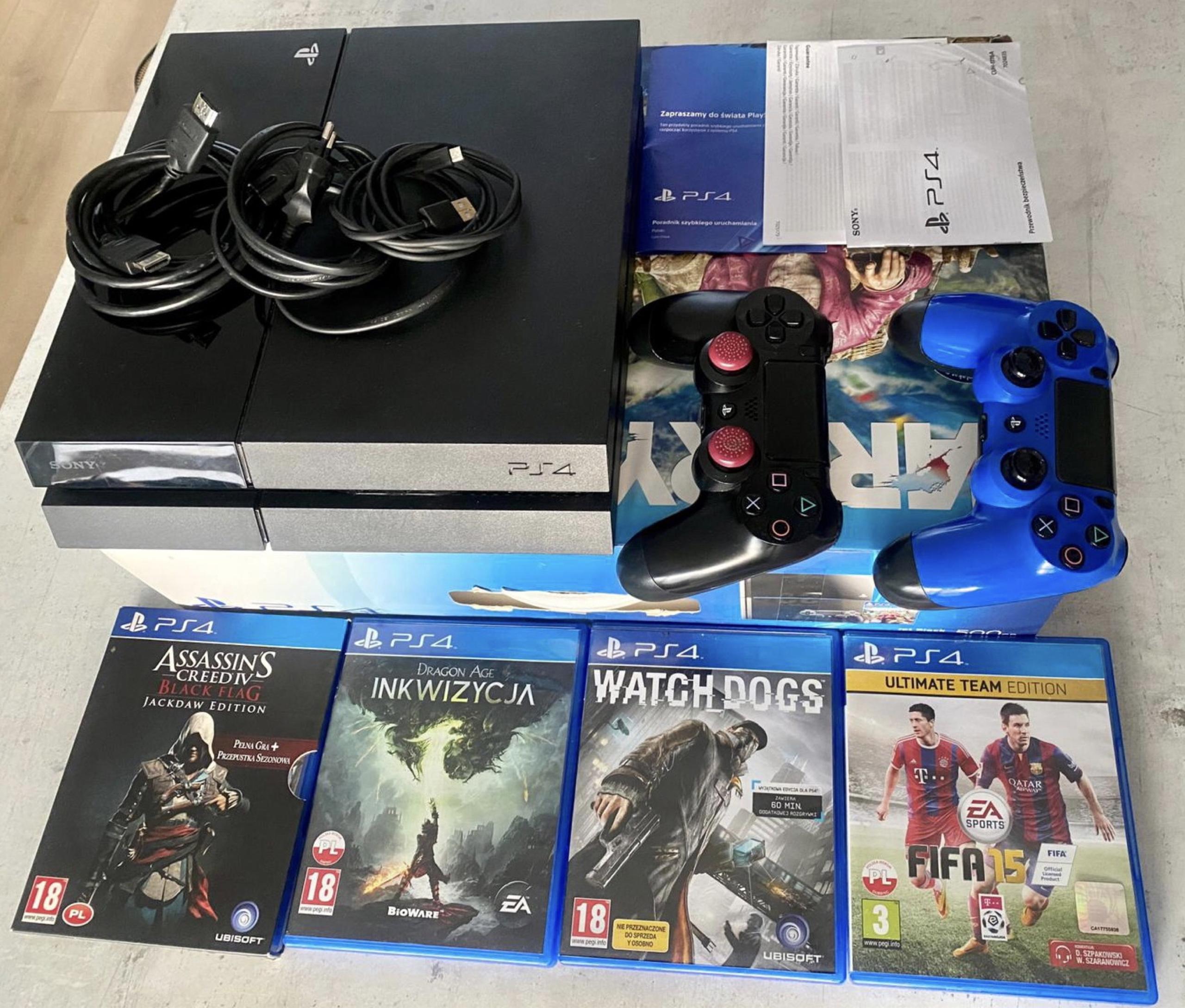 Konsola Playstation4 2 Pady 4 Gry Kup Teraz Za 770 00 Zl Marki Allegro Lokalnie