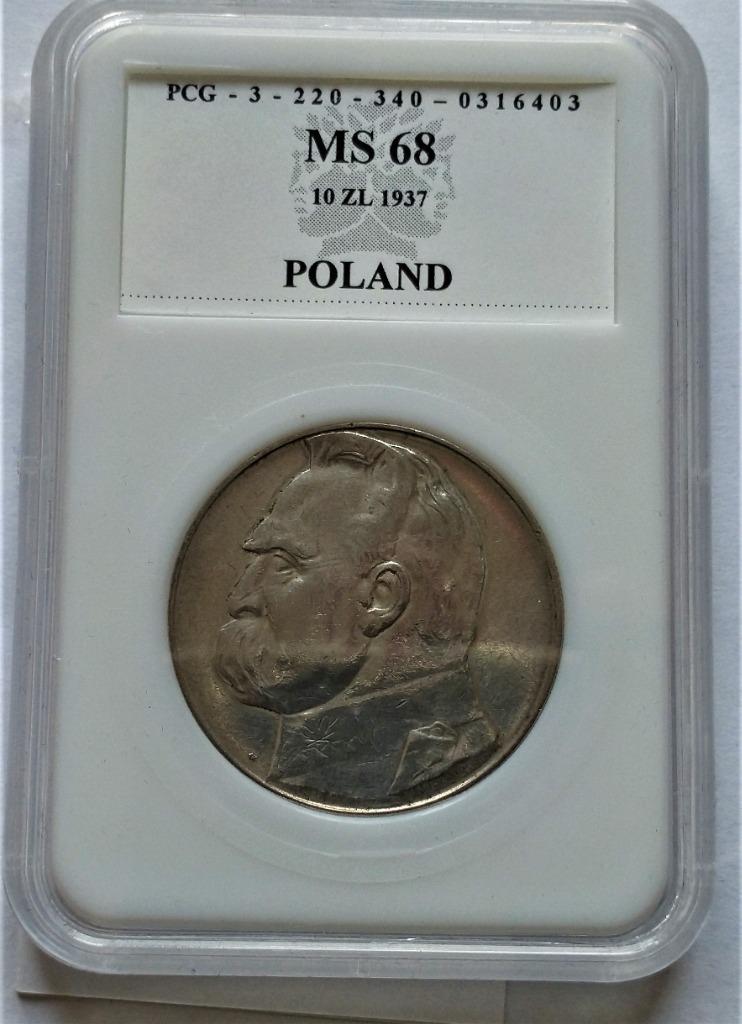II RP 10 zł 1937 r   p121