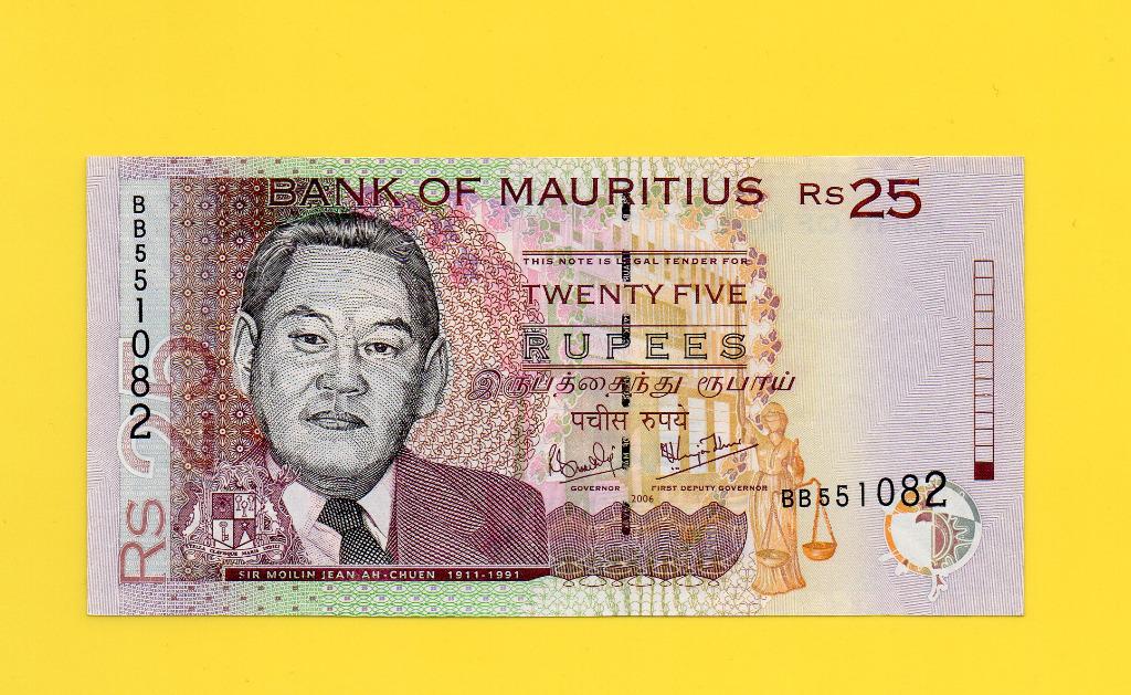 MAURYTIUS 25 RUPEES  2006 UNC