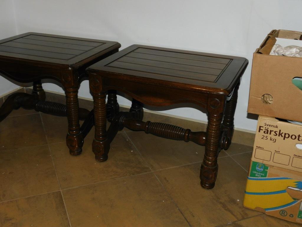stolik masywny drewniany 2 sztuki Fiaf