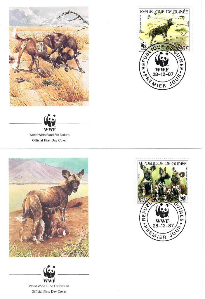 Zestaw 4 kopert WWF Guinee nr 70