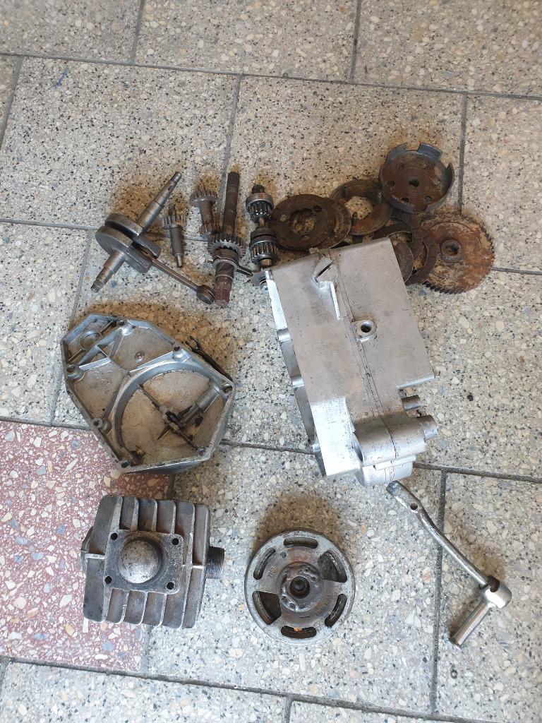 Двигатель запчасти romet мопедик 023 2 передачи, фото 10