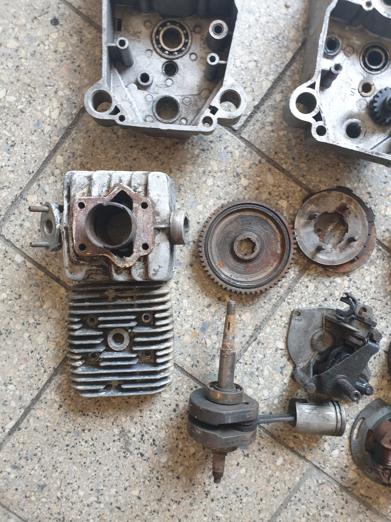 Двигатель запчасти romet мопедик 019 3 передачи, фото 2