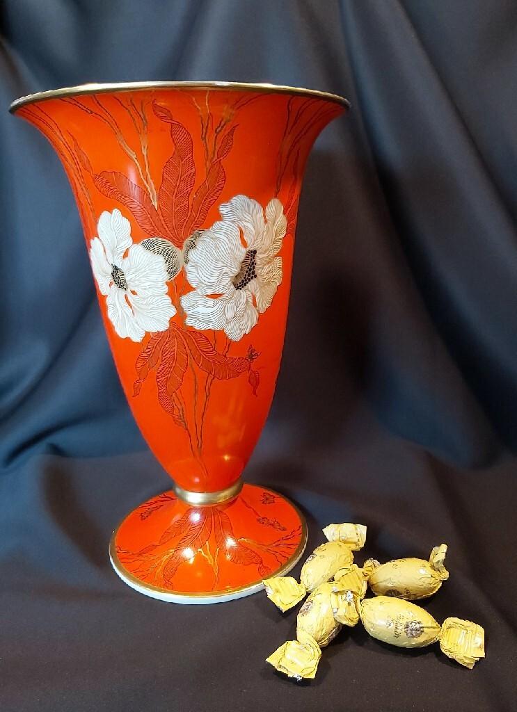 Розенталь Ваза 29,5 см, 1939 г. Уникальные бабочки