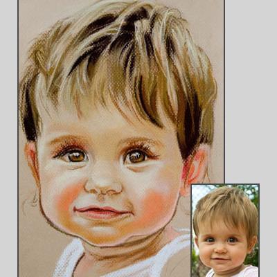 Portret ze zdjęcia, prezent Mikołaj Święta A4