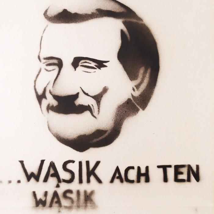 szablon Lecha Wałęsy z lat 80.