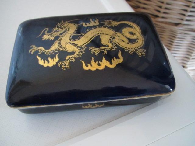 Rosenthal KUNSTABTEILUNG Szkatułka Kobalt  złoto