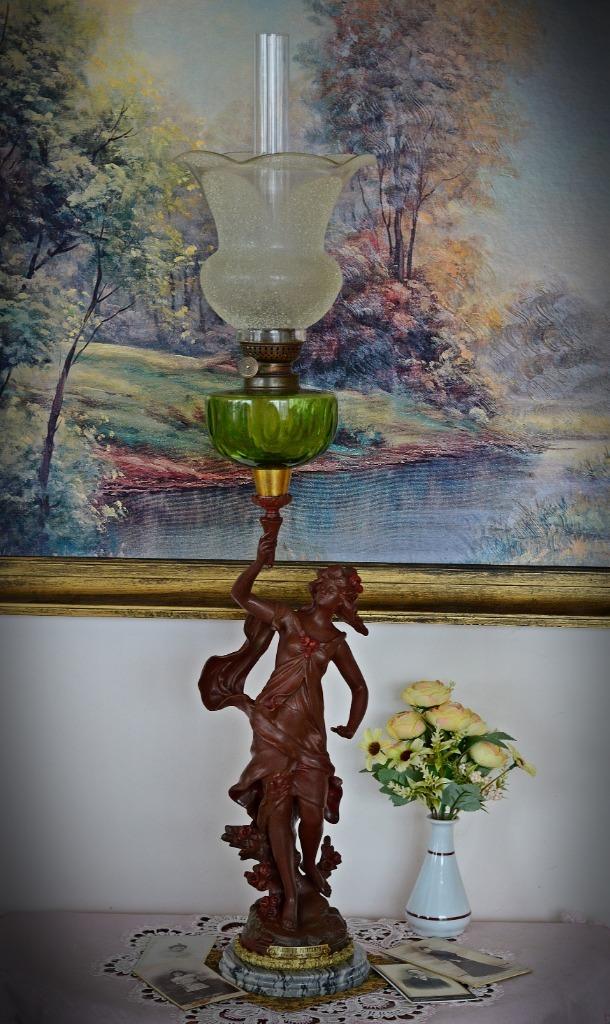 PIĘKNA FRANCUSKA LAMPA NAFTOWA