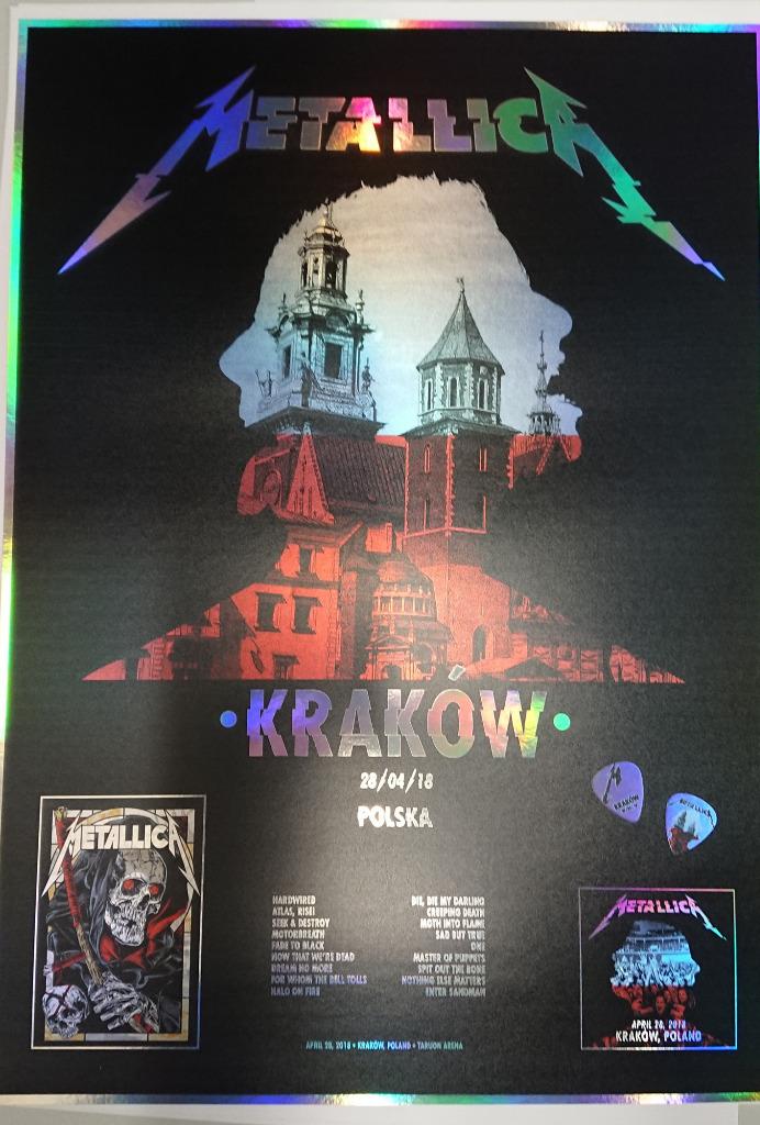 Metallica Krakow 2018 Plakat Holograficzny Kup Teraz Za 99 99 Zl Lodz Allegro Lokalnie