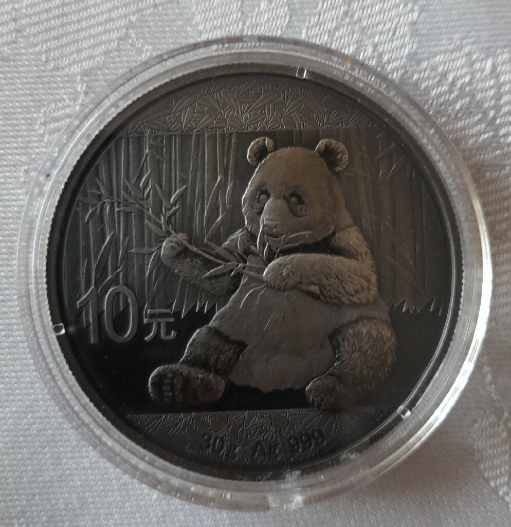 Srebrna moneta Chińska Panda z 2017 roku Ag 999