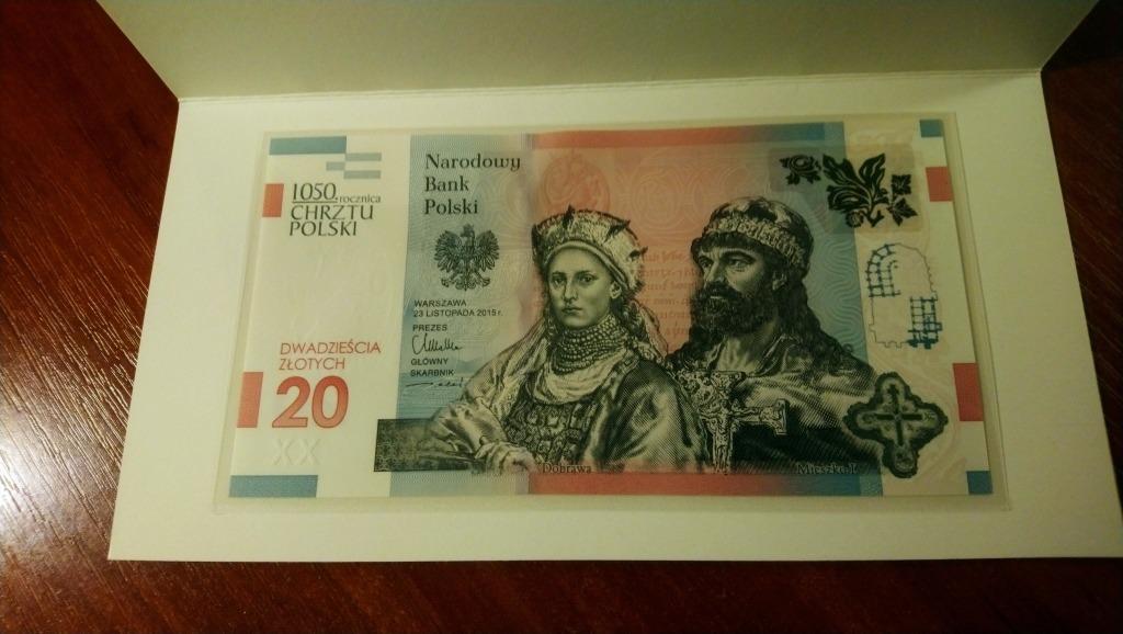 Licytacja 20 Zl Banknot 1050 Rocznica Chrztu Polski Rumia Allegro Lokalnie