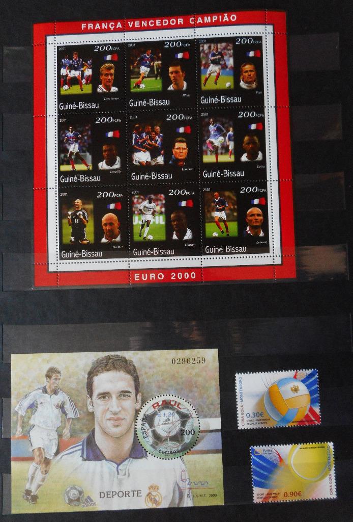 чистые футбольные почтовые марки