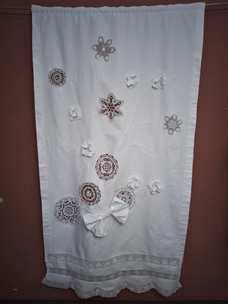 Хлопковая штора с блочными вставками