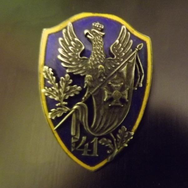 Item Sign 41 Suwałki Infantry Regiment, the original