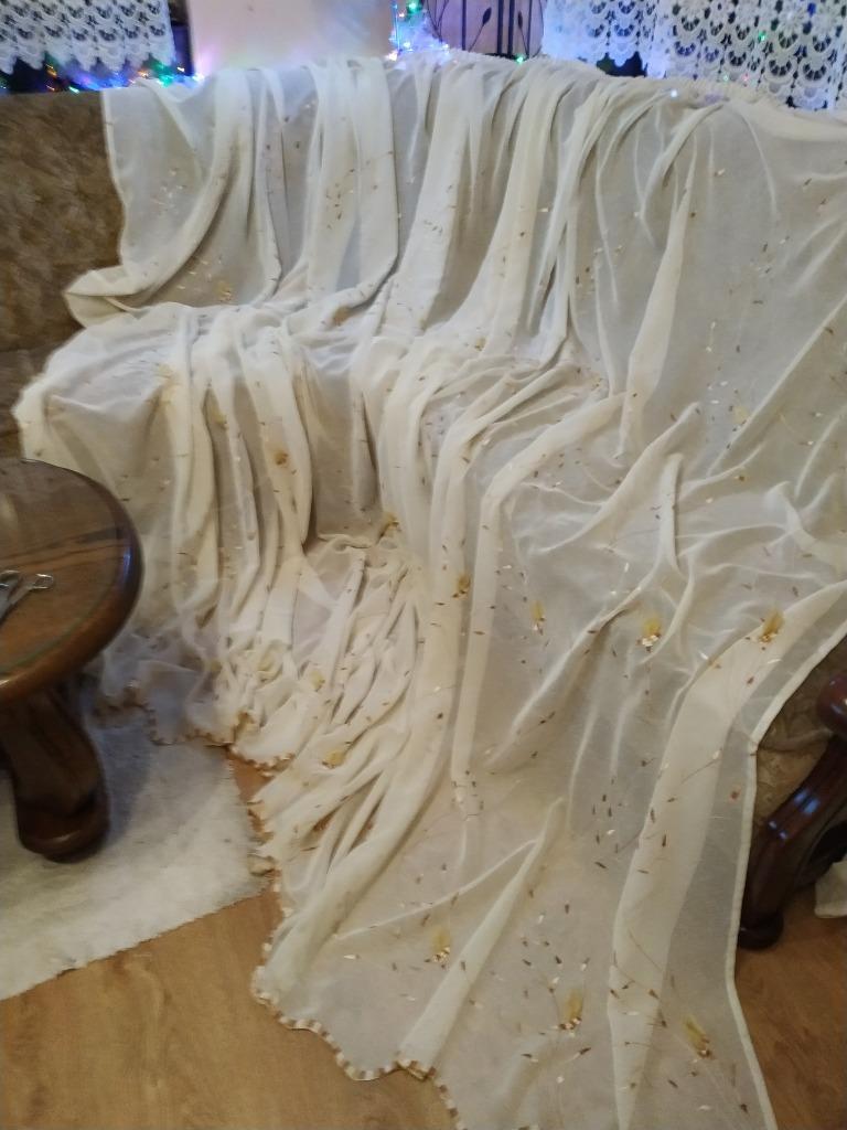 Красивая штора, одна из двух - вышивка 470смх230см