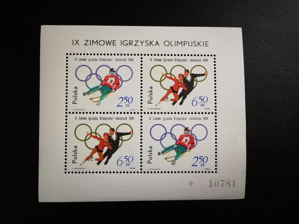 Blok 41 ** Zimowe Igrzyska Olimpijskie 1964r.