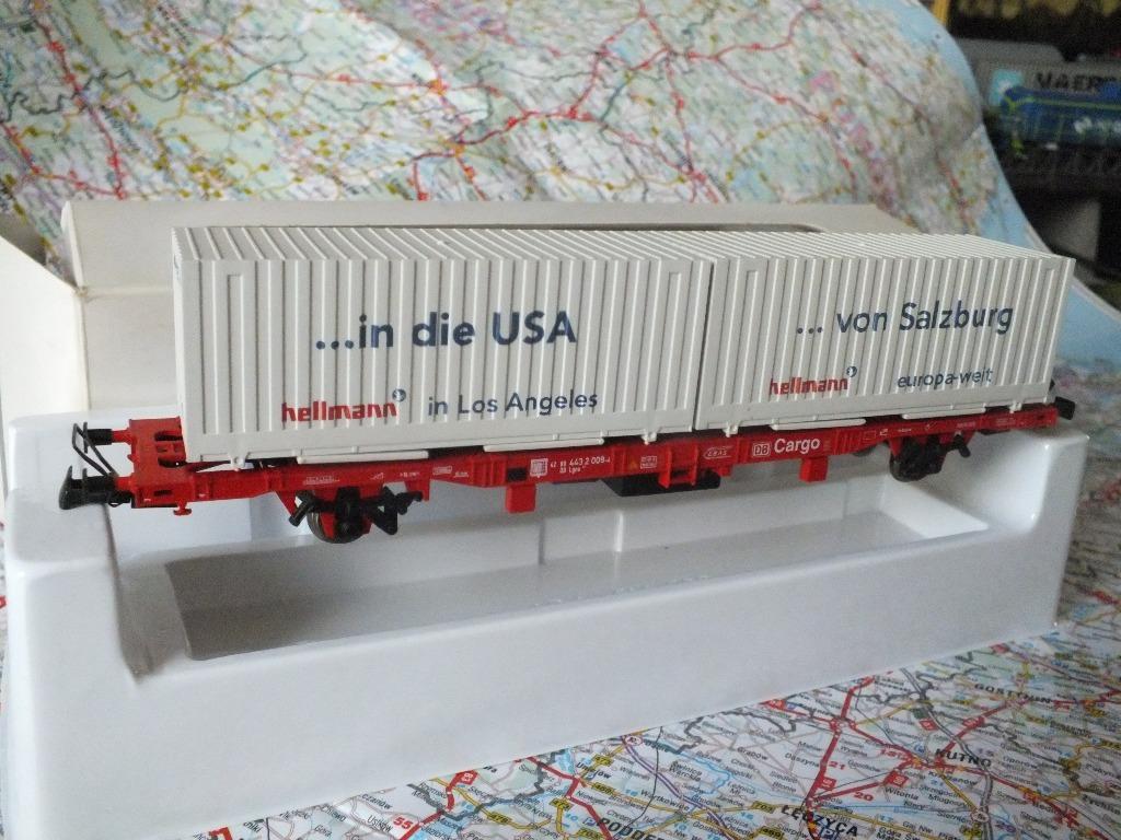 Wagon  platforma kontenerowa  DB , Marklin DC