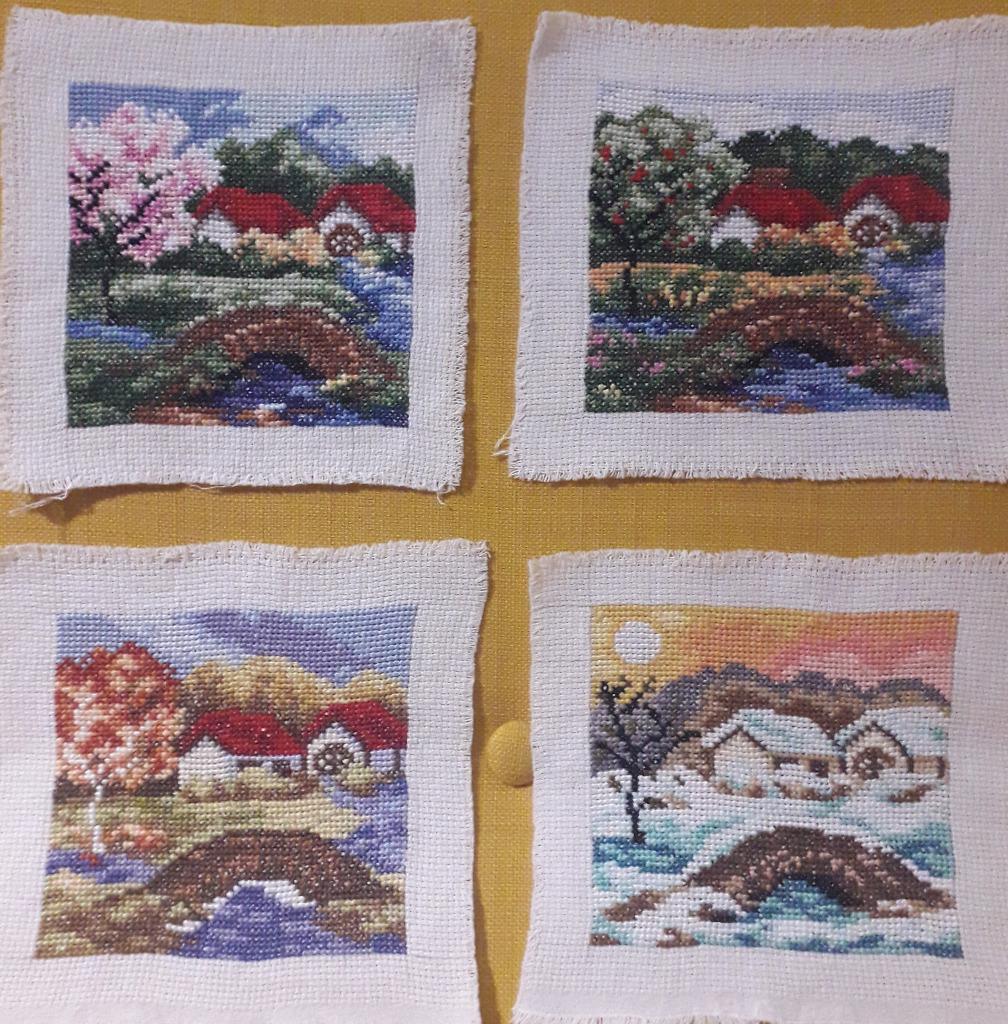 Cztery pory roku - obraz haft krzyżykowy