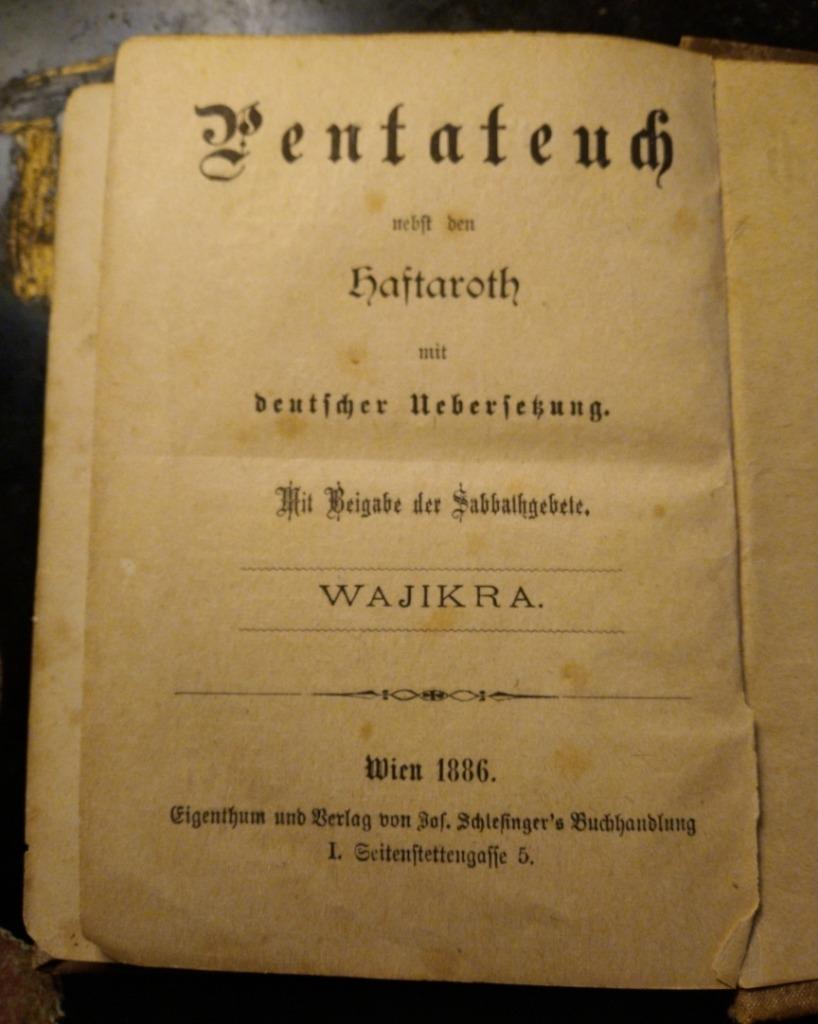 Wajikra- Wajikra(Księga Kapłańską) r 1898 Judaica