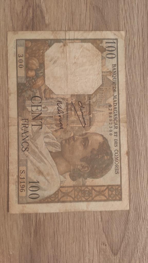 100 francs Madagaskar