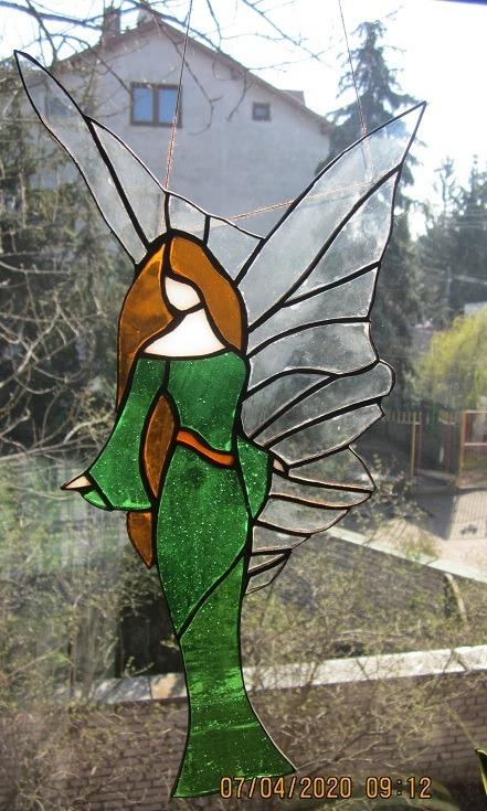 Witraż Elf w zielonej sukni