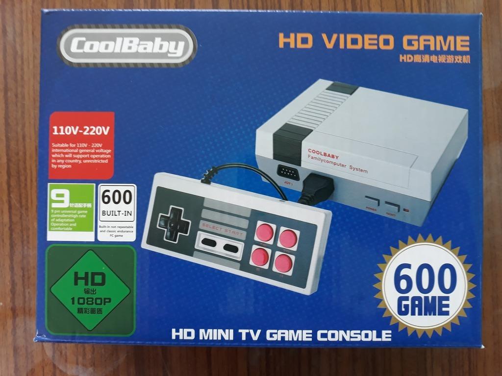 Item GAME TV, GAME CONSOLE-HDMI, NES, PEGASUS, 600 GAMES