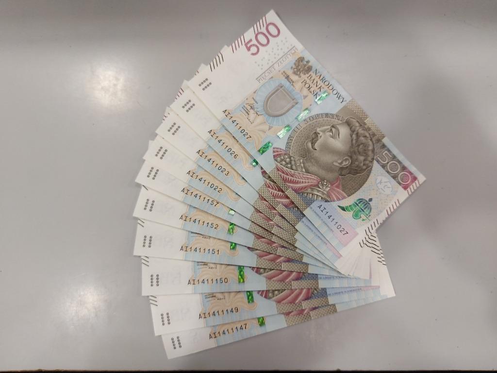 Banknoty 500 Zl Seria Ai Z 2017r Kup Teraz Za 609 00 Zl Pruszkow Allegro Lokalnie