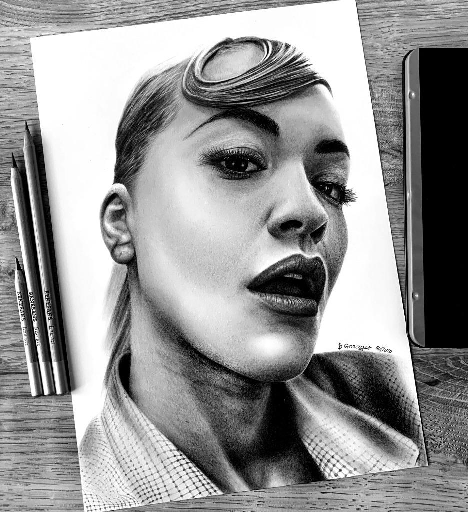 Rita Ora Portret Rysunek na zamówienie A4 A3