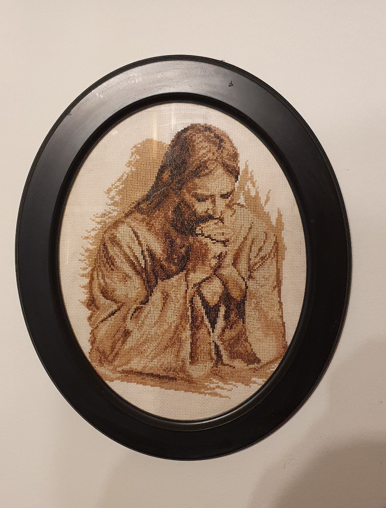 Obraz rękodzieło. Haft krzyżykowy Promo. Pan Jezus