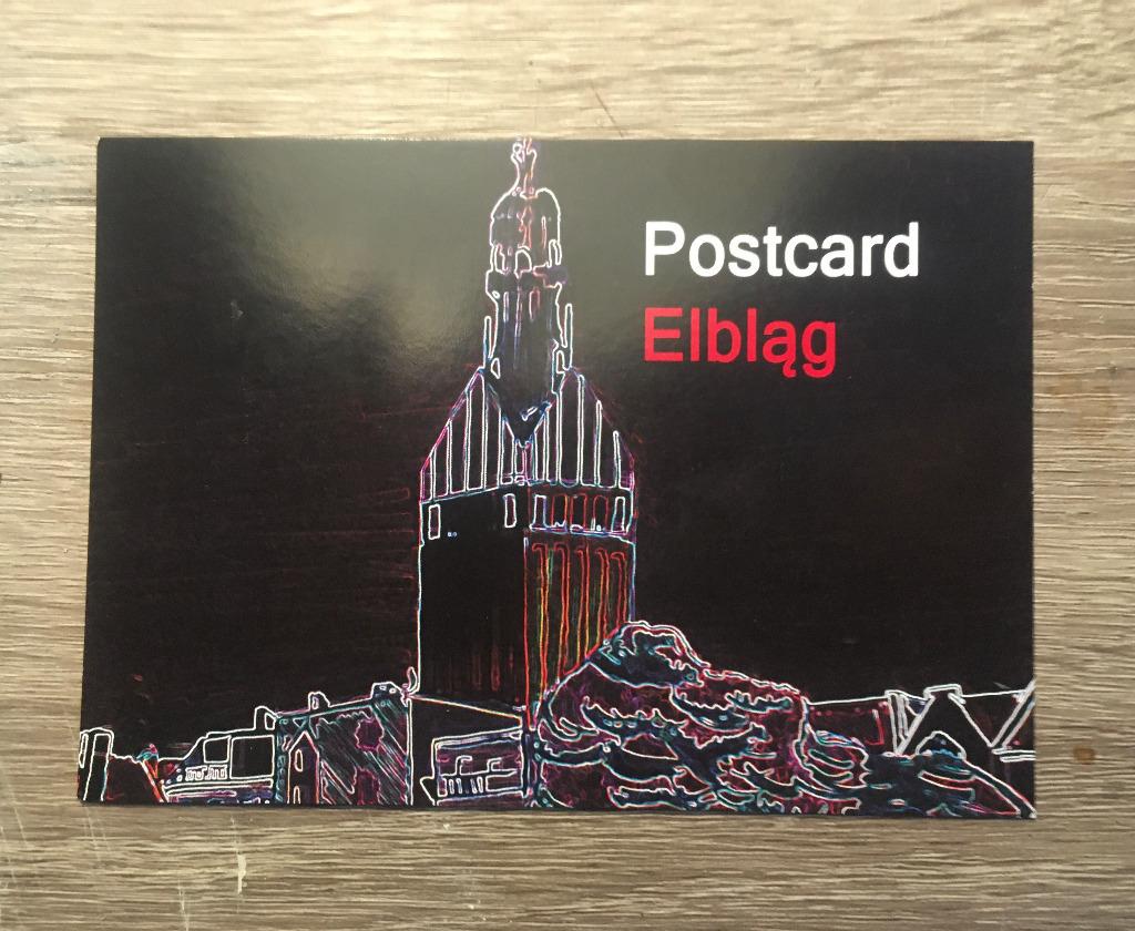Pocztówka Postcard Elbląg