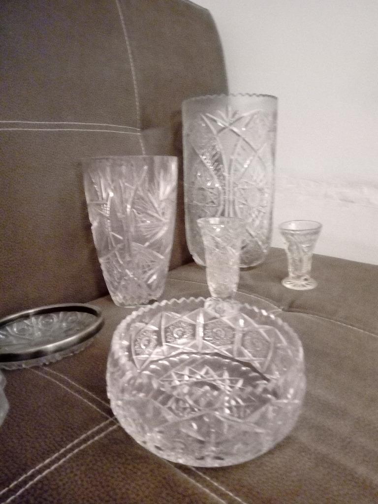 Bardzo duży wazon kryształowy