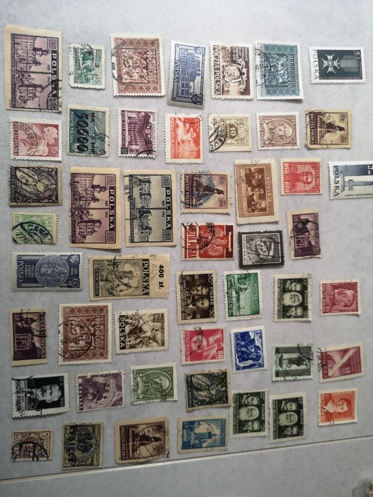 Zestaw 50 szt znaczków Polska międzywoje