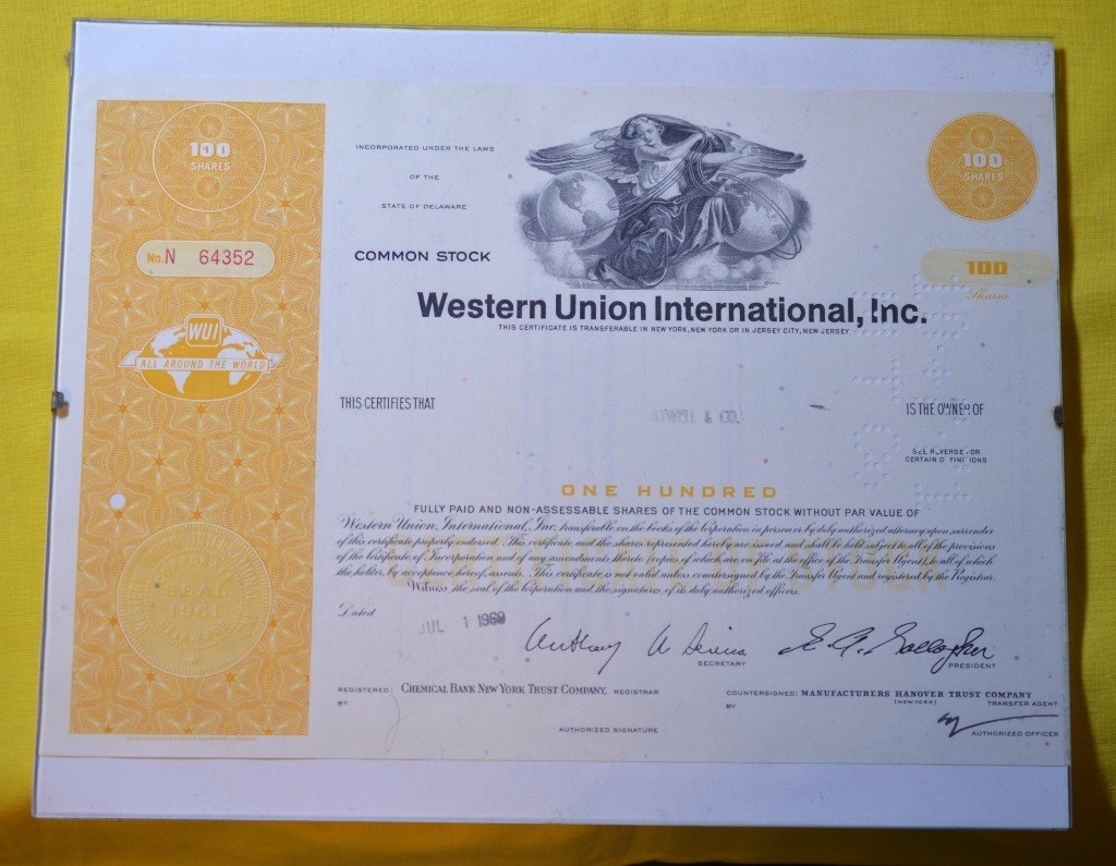 AKCJE USA WESTERN UNION INTERNATIONAL INC. UNIKAT