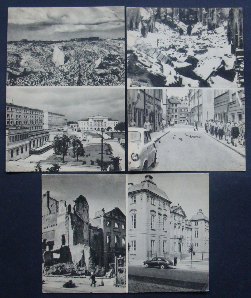 Варшава - Пива, Муранув, Академия художеств - 3 открытки
