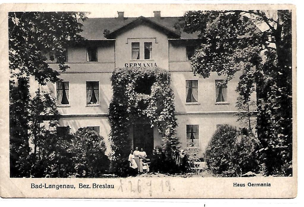 Długopole Zdrój, (Bad Langenau),1919 rok