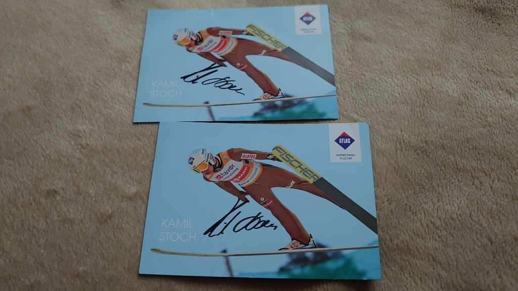 Skoki narciarskie 2 autografy Kamil Stoch komplet