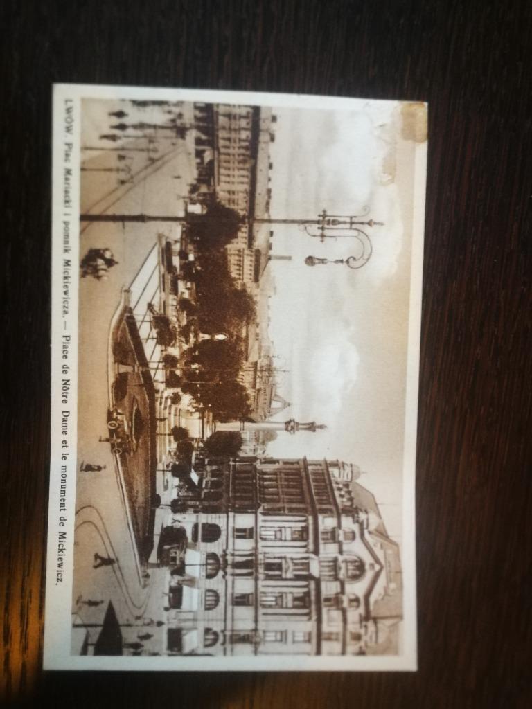 Piękna starą kartka Plac Mariacki