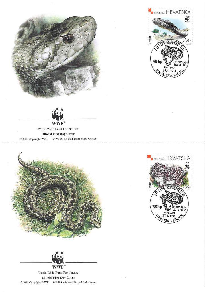 Zestaw 4 kopert WWF Chorwacja nr 62