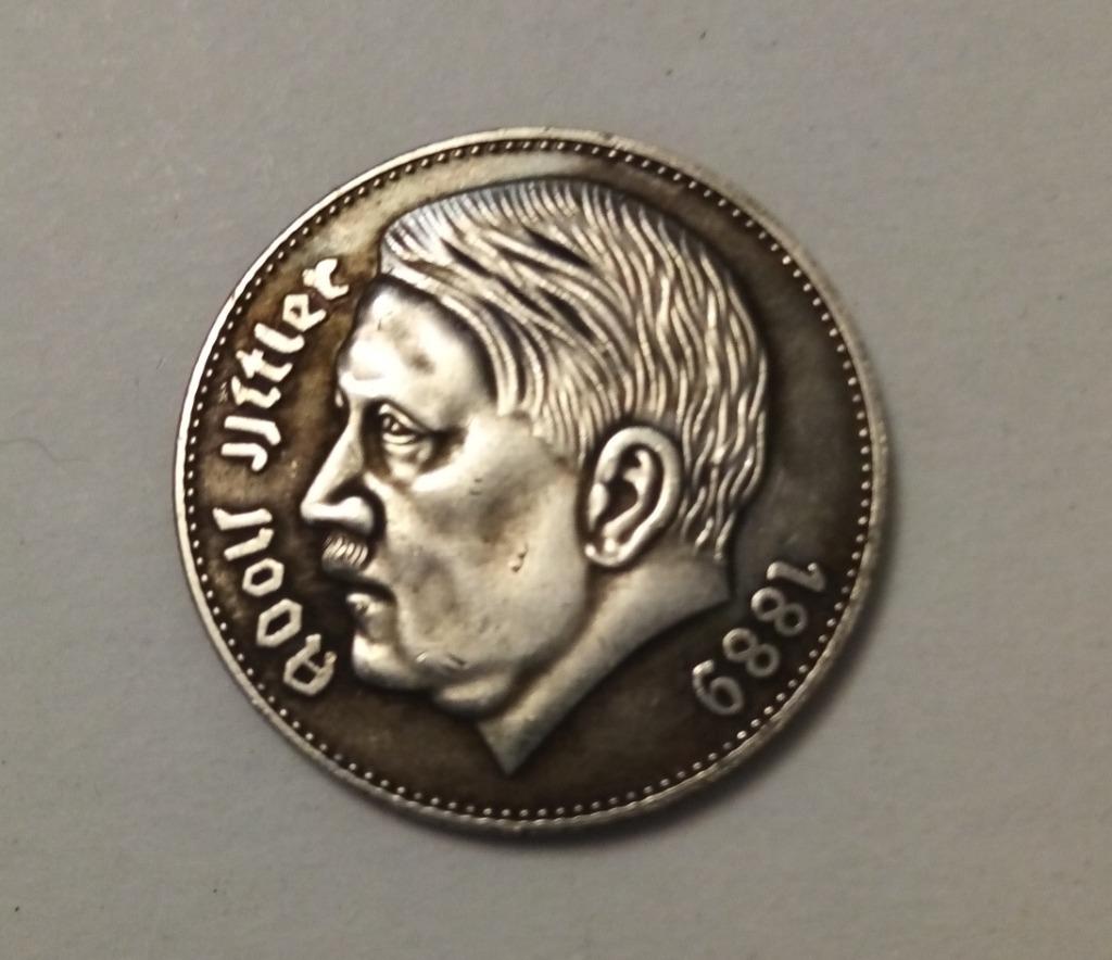 Moneta 5 marek Adolf Hitler 1938