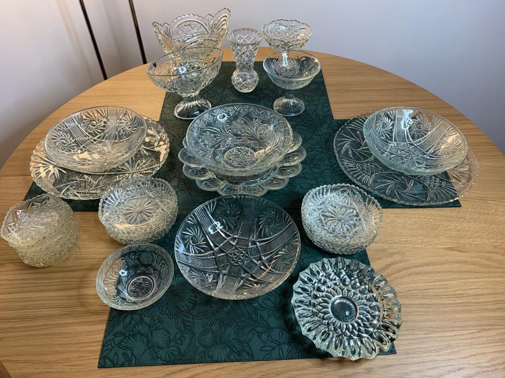 Szkło kryształowe zestaw
