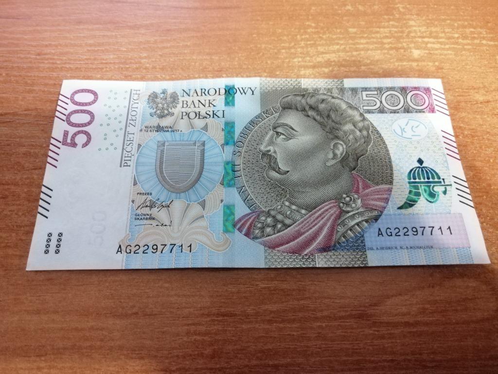 Banknot 500 Zl Seria Ag Cena 525 00 Zl Debno Allegro Lokalnie